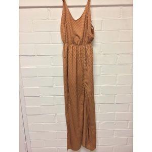 Flowy Double Leg Slit Maxi Dress